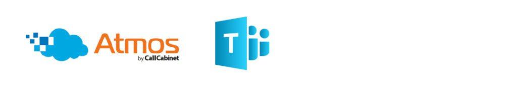 atmos call cabinet and microsoft teams logos